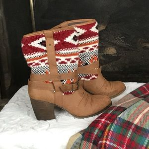 Route 66   Sweater Detail Booties   Brown   9